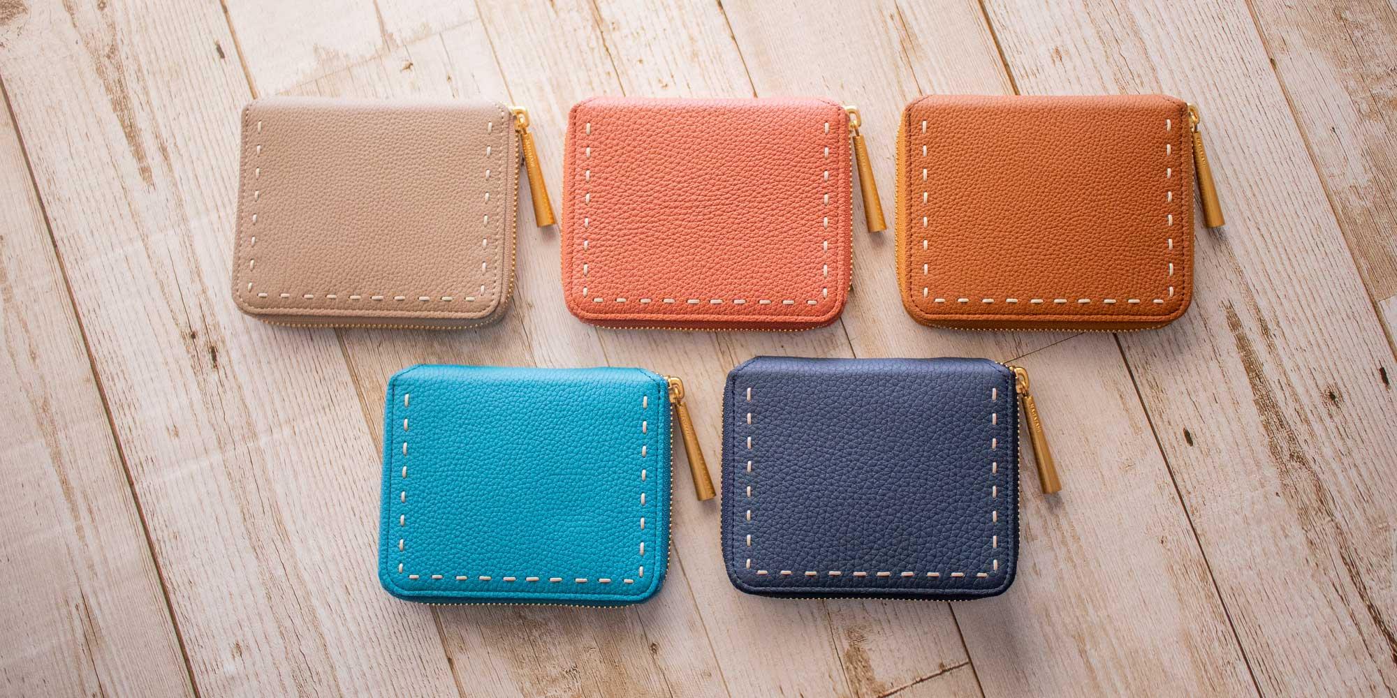 新作スモールウォレット「BONNY」2019年 秋コレクションに登場。収穫の季節にお財布を新調するのに最適です。
