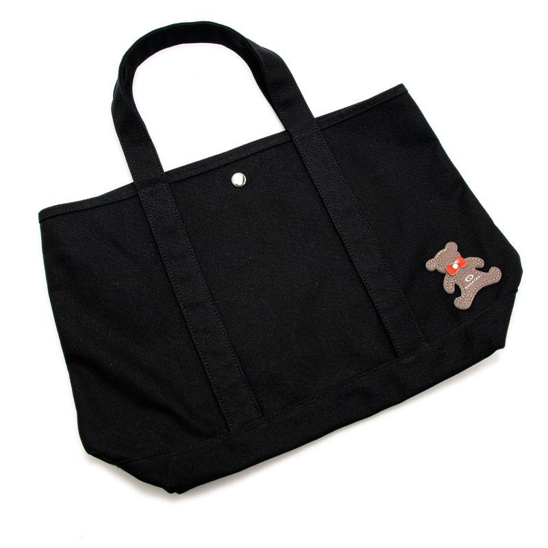 日本製ブランド「NAGATANI」CANVAS TOTE ECO-01K [BLACK]キャンバス地・帆布トート/エコバッグ