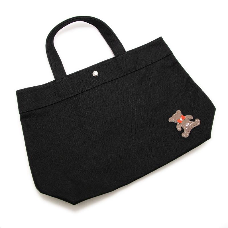 日本製ブランド「NAGATANI」CANVAS TOTE ECO-02K [BLACK]キャンバス地・帆布トート/エコバッグ