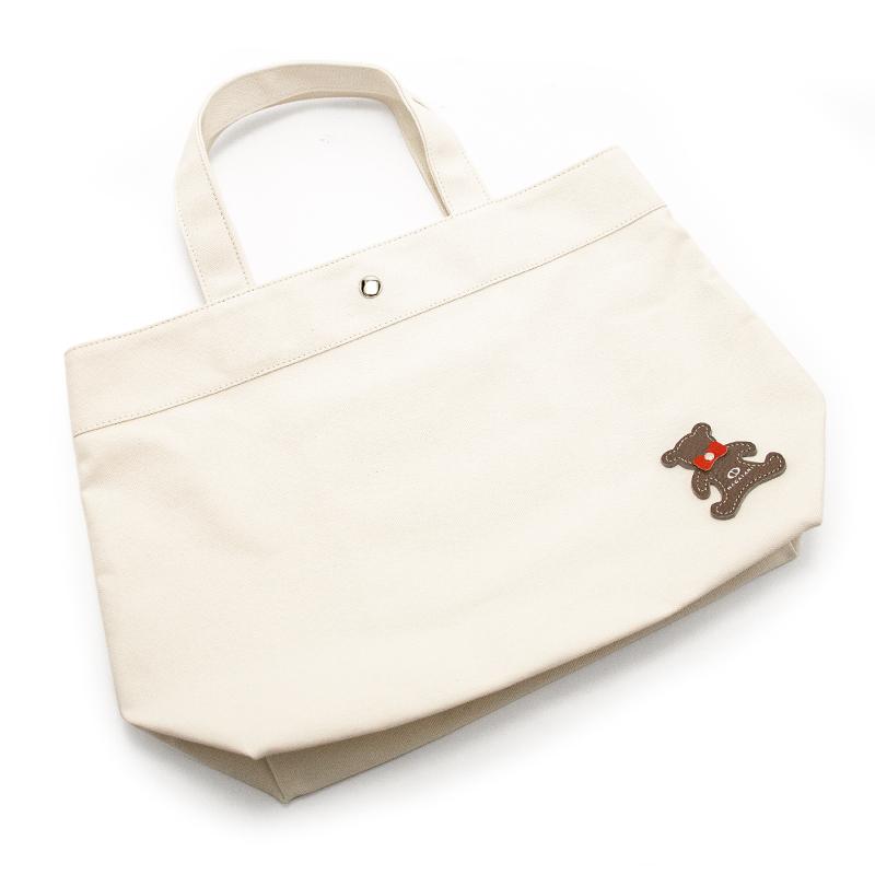 日本製ブランド「NAGATANI」CANVAS TOTE ECO-02K [IVORY] キャンバス地・帆布トート/エコバッグ