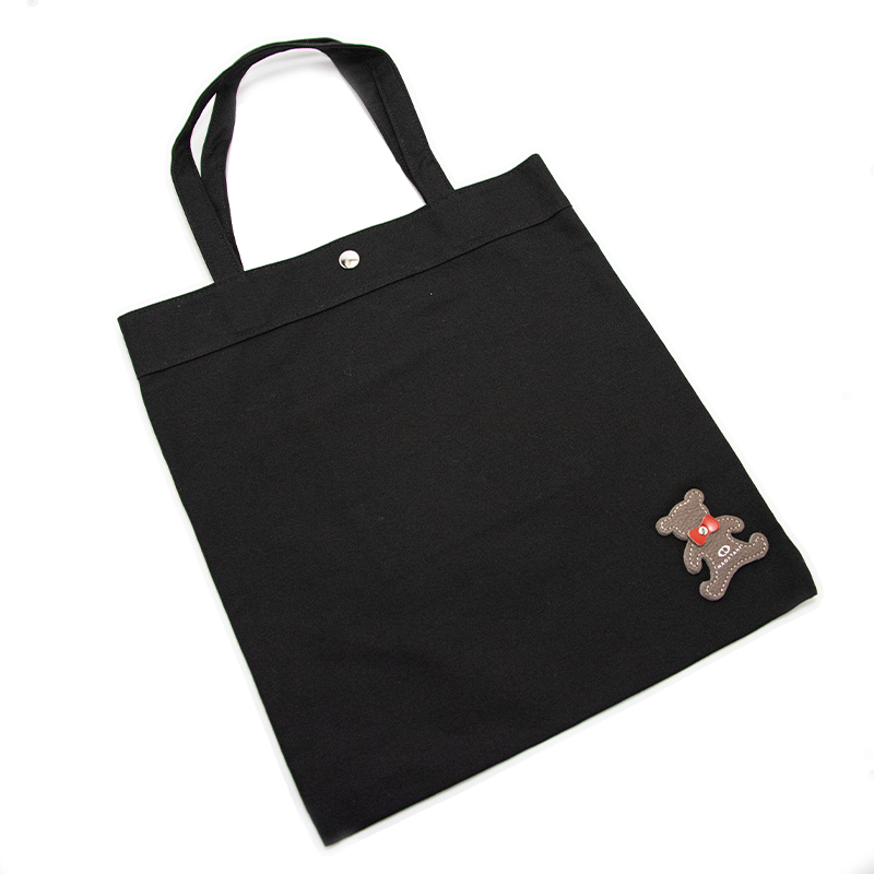 日本製ブランド「NAGATANI」CANVAS TOTE ECO-04K [BLACK]キャンバス地・帆布トート/エコバッグ