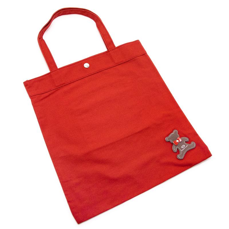 日本製ブランド「NAGATANI」CANVAS TOTE ECO-04K [RED] キャンバス地・帆布トート/エコバッグ