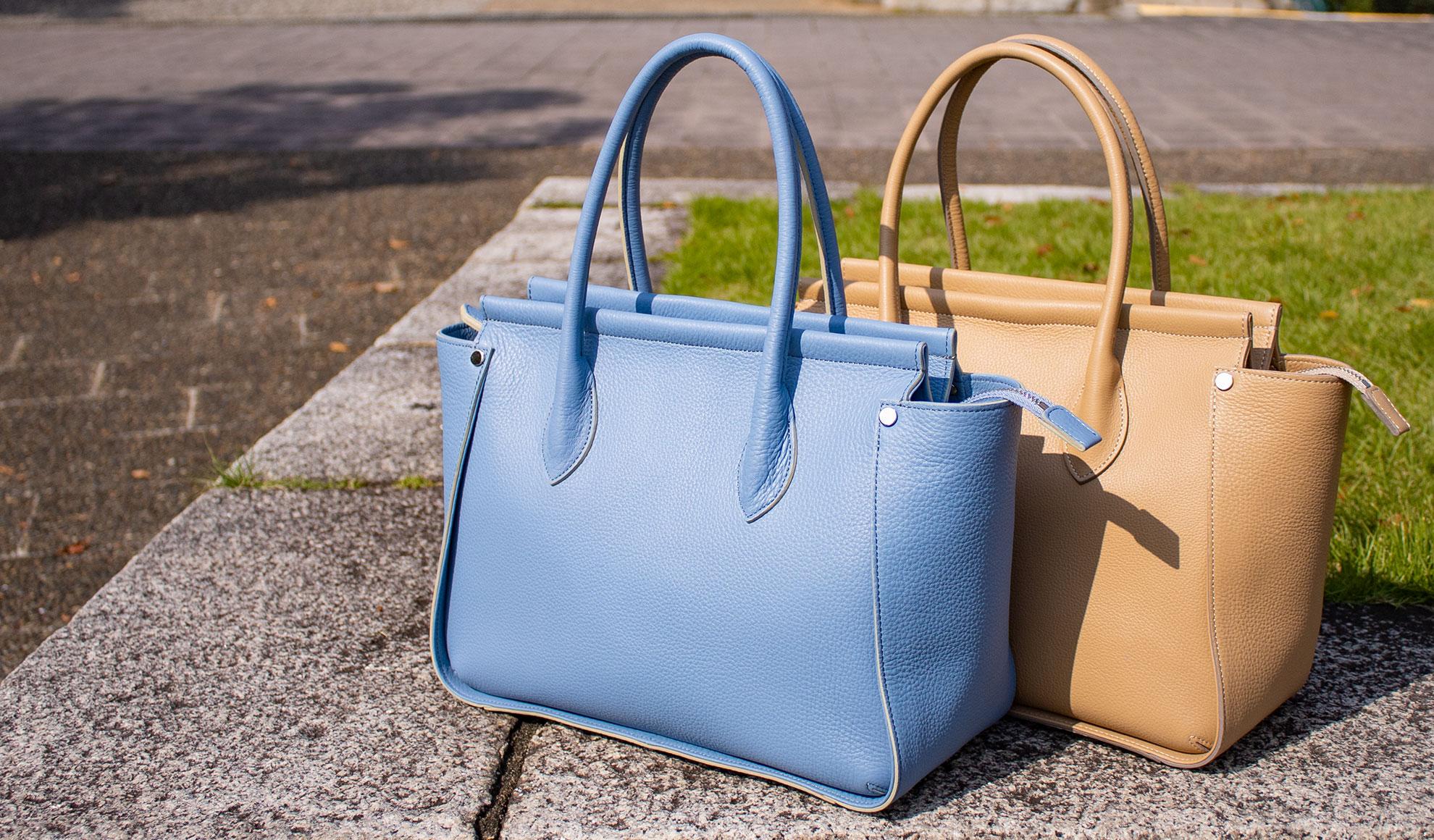 国産シュリンクレザーの心地よさと美しい曲線とお手頃価格が魅力の本革バッグ「RE-01」