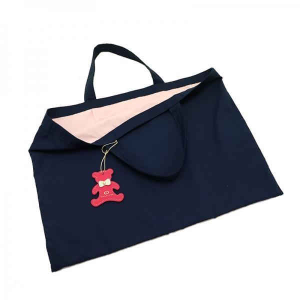日本製ブランド「NAGATANI」LESSONBAG [NAVY×PINK] クレンゼ生地抗菌トートバッグ
