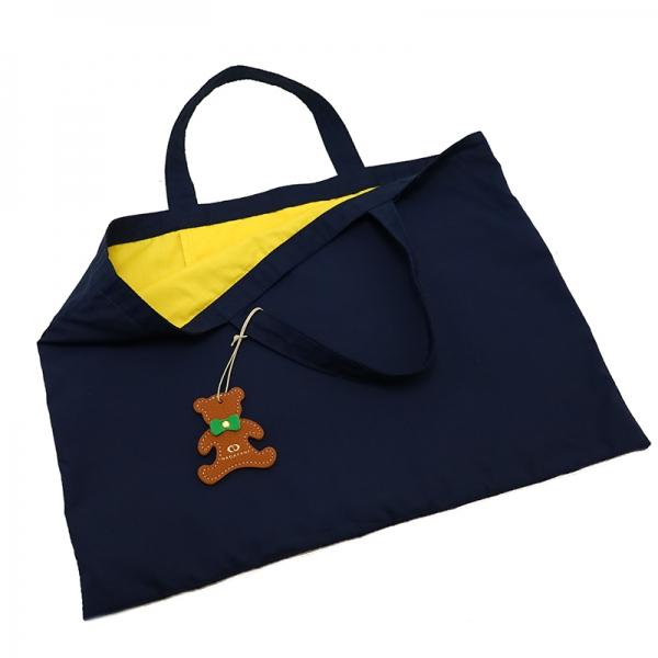日本製ブランド「NAGATANI」LESSONBAG[NAVY×YELLOW] クレンゼ生地抗菌トートバッグ