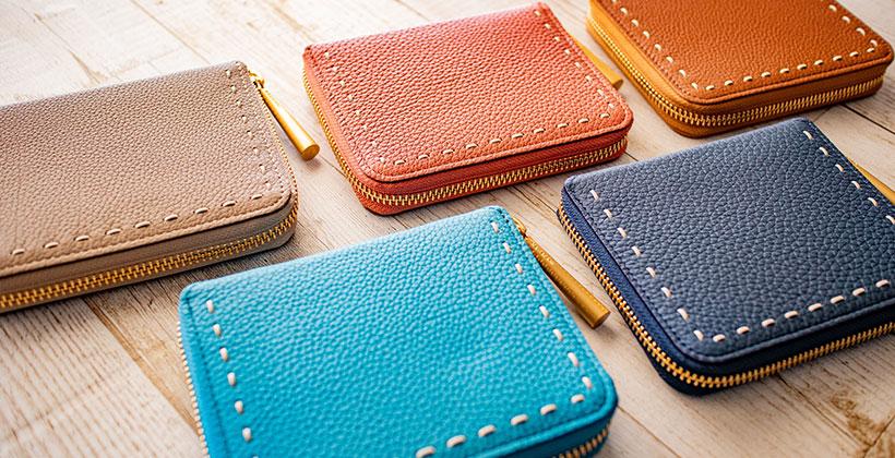 日本製 NAGATANI 最高級の本革シュリンクレザー・エスポワールを使ったウォレット(二つ折り財布/スモールウォレット)「BONNY」誕生。