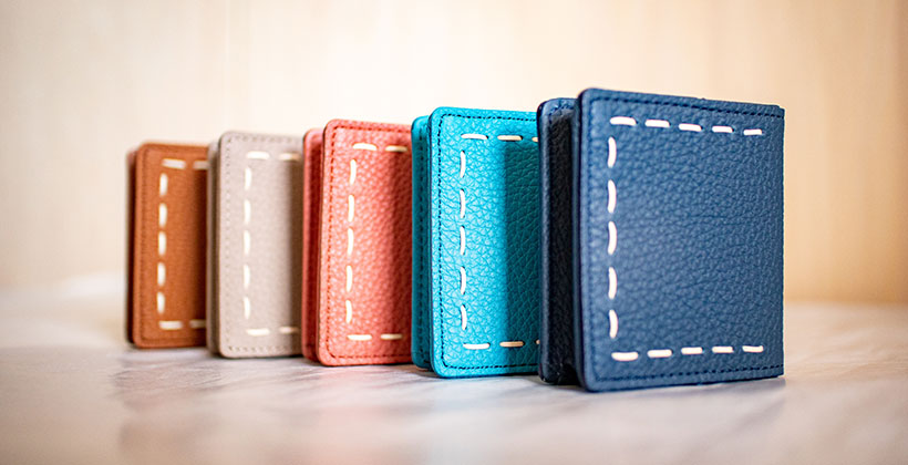日本製 NAGATANI 最高級の本革シュリンクレザー・エスポワールを使ったコインケース(小銭入れ)「ELLA」誕生。