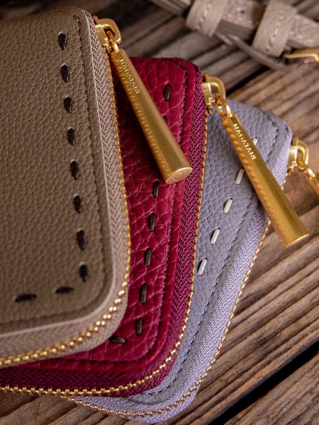 日本製 NAGATANI 最高級シュリンクレザー・エスポワール 本革二つ折財布「BONNY」2020年秋の新色