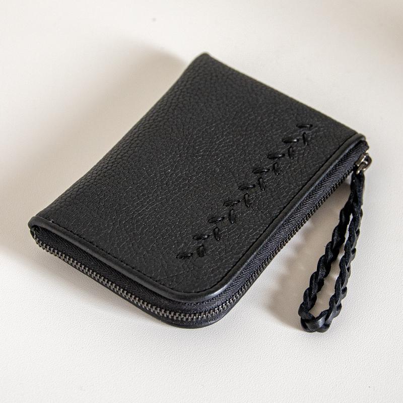 日本製 NAGATANI シュリンクレザー・エスポワール 本革スモールウォレット[Lファスナーミニ財布] JULIETTE [BLACK]