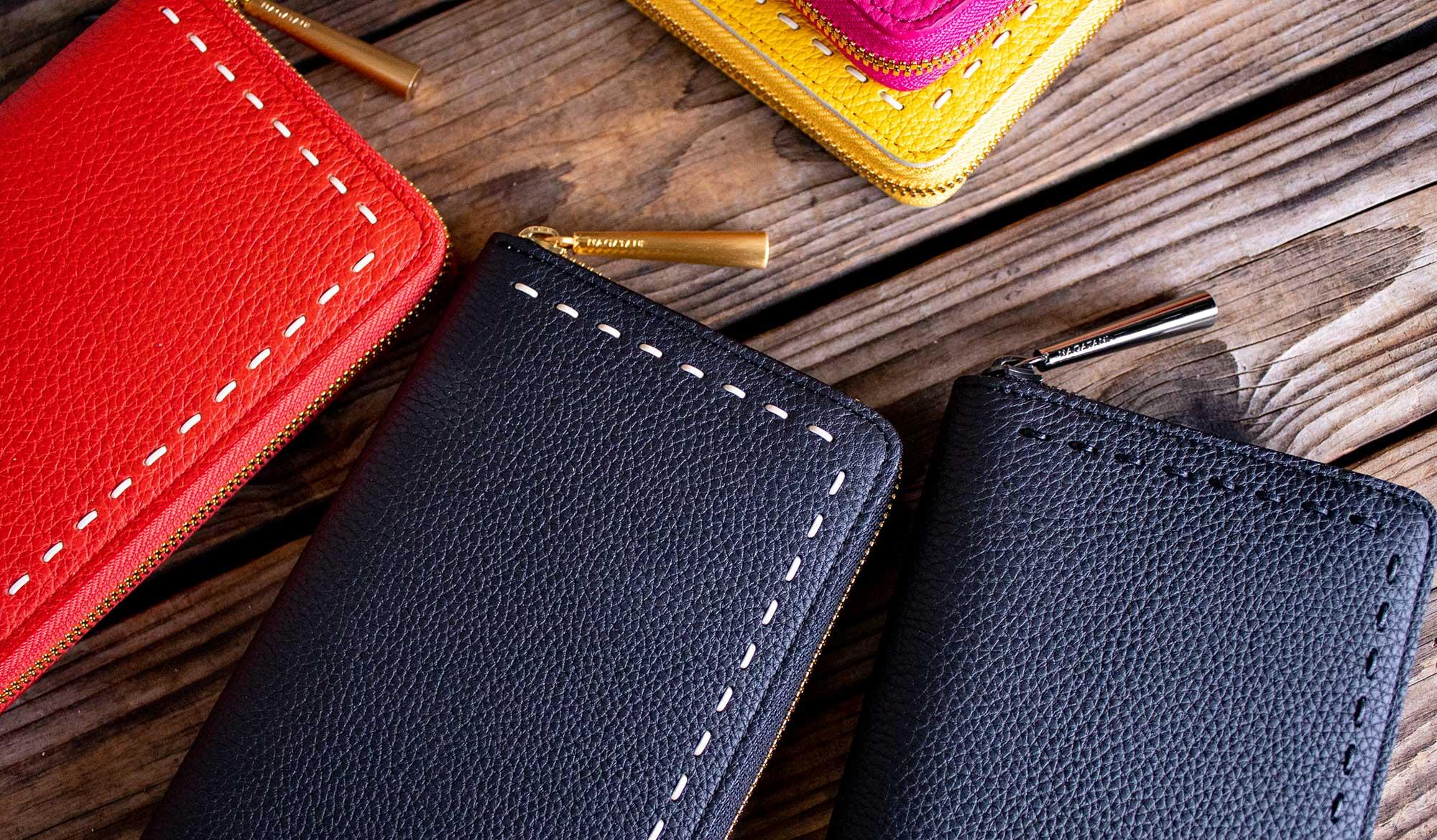 最高級シュリンクレザー・エスポワールで造る日本製のラウンドジッパー長財布[本革ウォレット]SAHOに秋の新色!秋財布の季節だよ。
